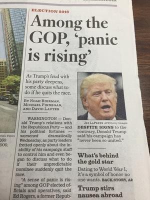 트럼프 아무래도 먹티끼가 보이네요