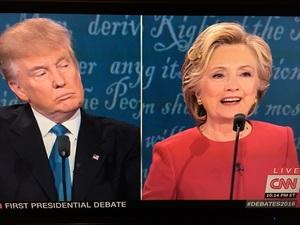 1라운드 힐러리 vs 트럼프