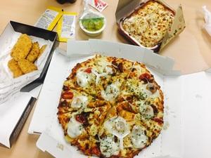 도미노피자 신메뉴! 브레이즈드 피자