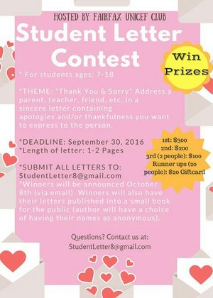 총상금$1,000Youth Writing Contes…