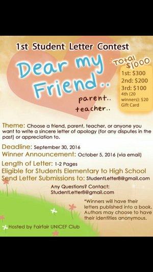 총상금 $1000 Letter Contest