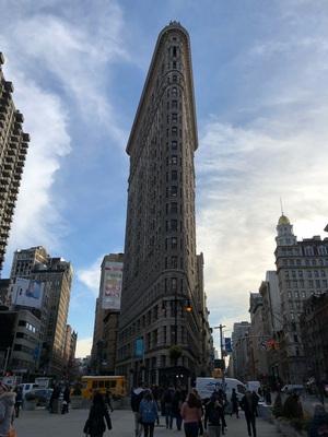 뉴욕에 있는 플랫아이언빌딩..