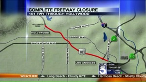 #101 freeway closure