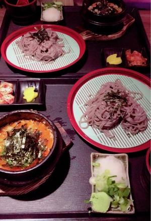 모밀 소바와 알밥