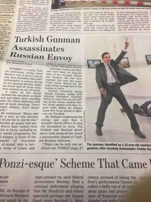 터키 경찰이 러시아 대사를 총격 사살