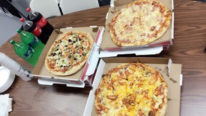 피자 배달 왔어요