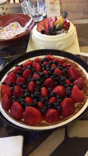 생크림 케익 & 딸기 타르트