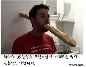 바게트 빵의 위험성
